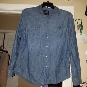 XL American eagle outfitters blue Jean type button